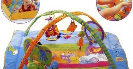 Аксессуары для детей: развивающий коврик
