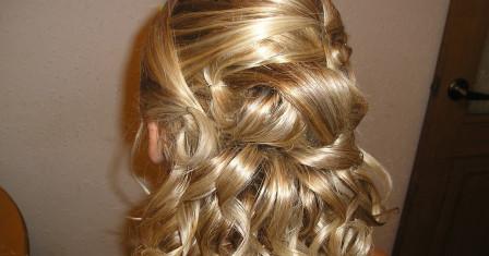 Вечерние прически на волосы средней длины