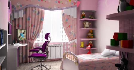 Дизайн маленькой комнаты для девушки