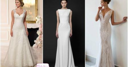 Платья свадебные прямого силуэта — утонченность и женственность