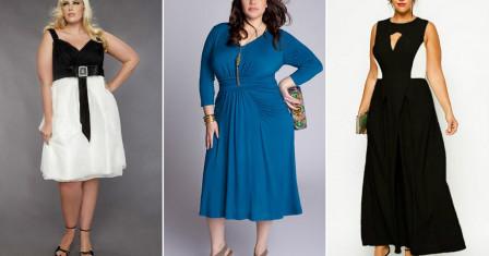Модное платье для полной дамы – как правильно сделать выбор