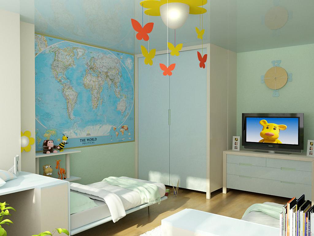 Оформление комнаты для ребенка от