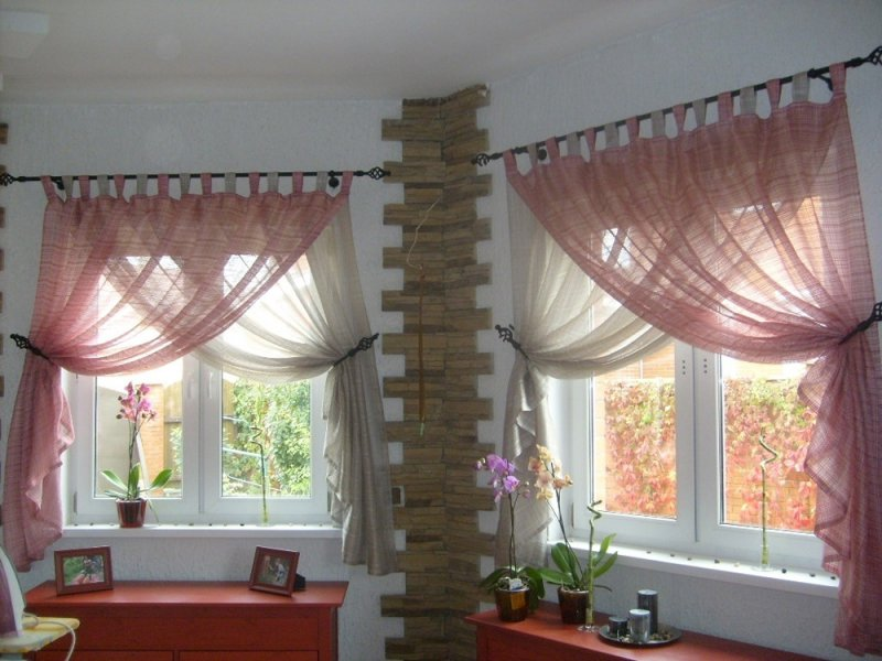Дизайн штор на кухню: фото, описания и