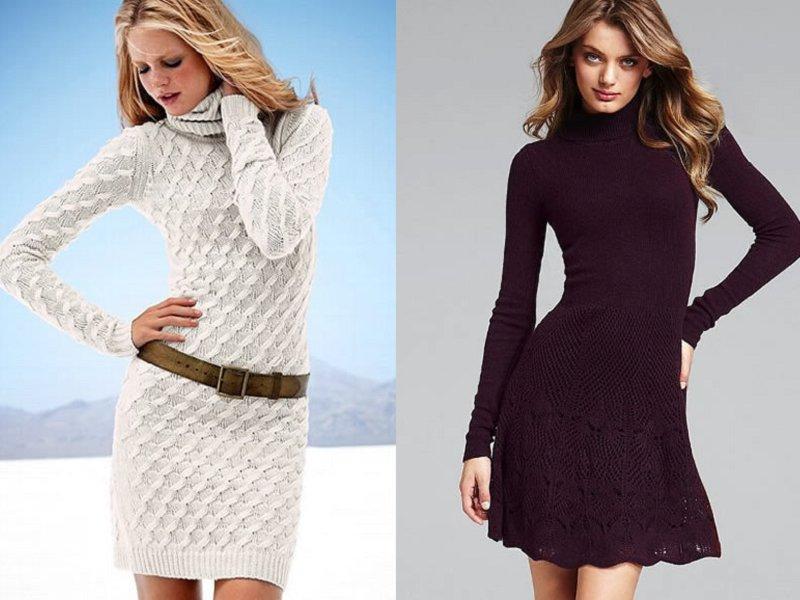 Платье зимнее из трикотажа