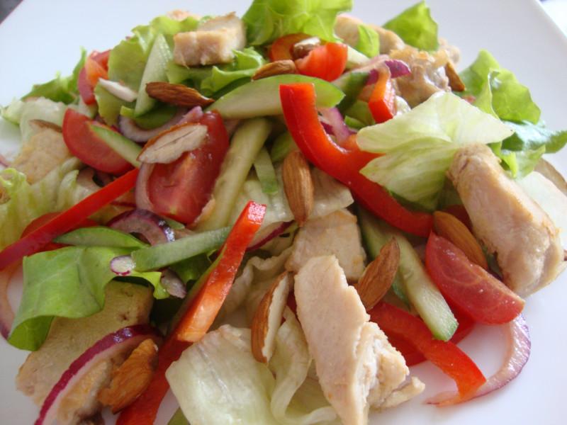 Легкие салаты с курицей рецепты с