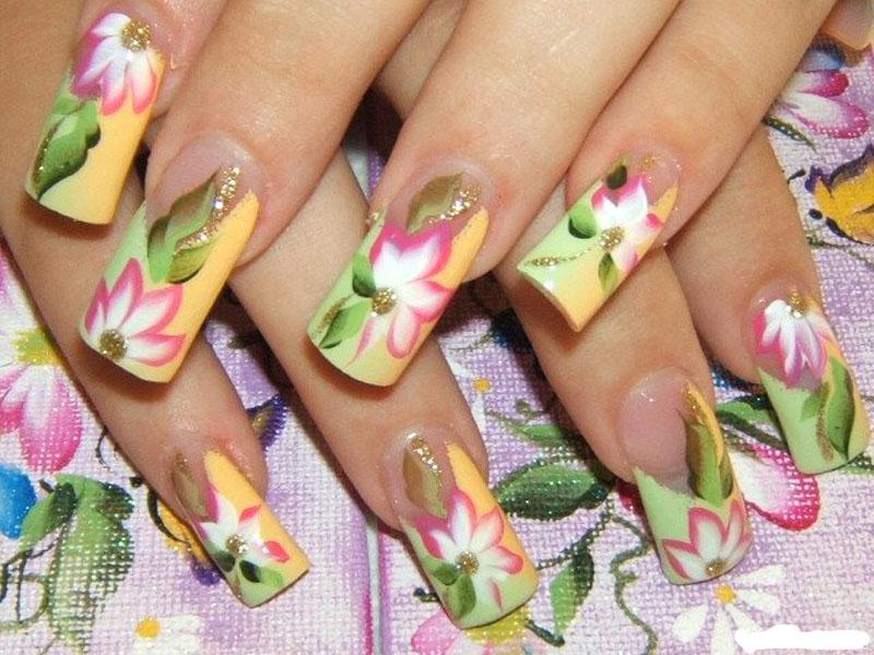 3 как правильно снимать акриловые ногти. . Сделать рисунки на ногтях акриловыми красками может любая из дам, которая