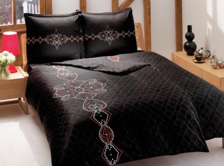 Правила выбора черного постельного белья