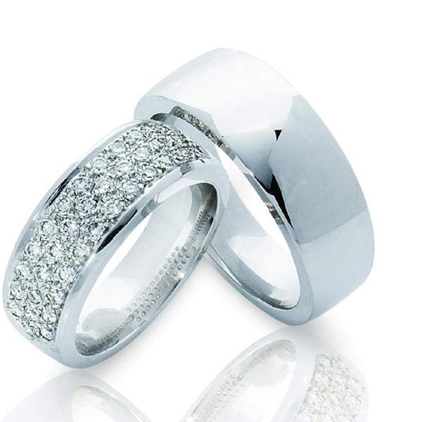 Кольца белого золота обручальные